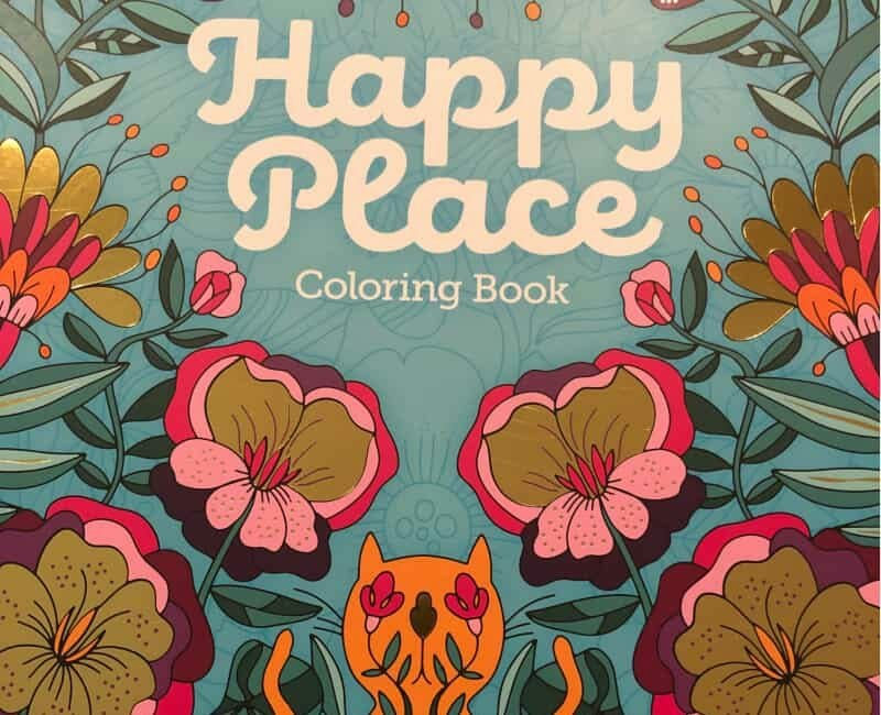 Happy Place coloring book