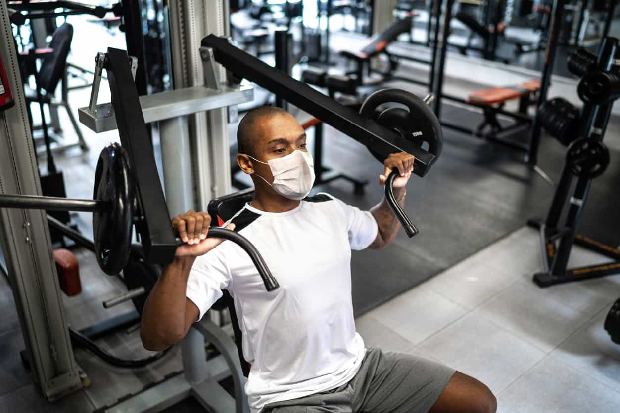 exercising with mask