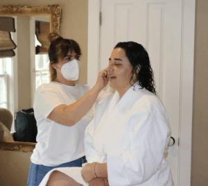 Talia getting makeup