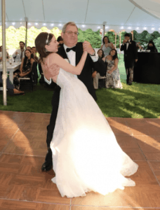 Zoey dancing with her dad