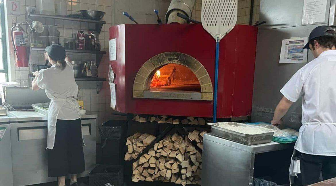 pizza oven at Roberta's