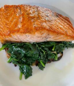 Salmon at Trattoria Diane